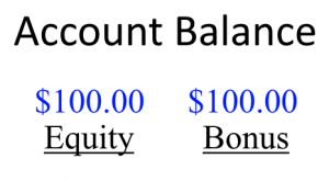 Account Balance is separated to equity and bonus